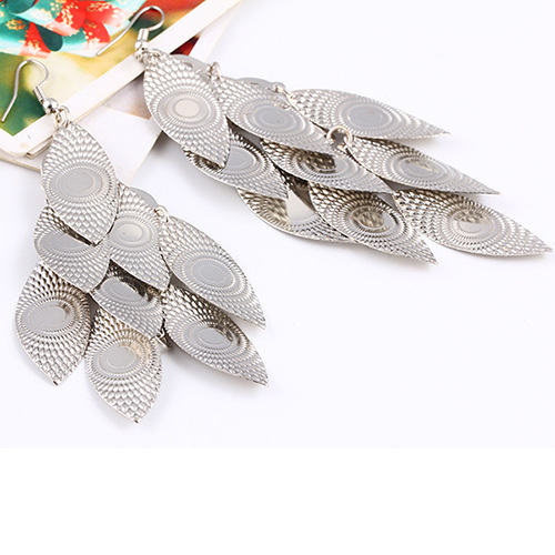 Vintage Leaf Earring 2015 New Design Bohemian Hollow Dangle Earrings Charm Jewelry For Women(China (Mainland))