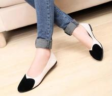 Ballerina Shoes For women Shallow Mouth Pu Women Leather Shoes Women Flats Suede Round Toe Ladies
