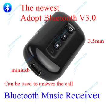Wireless Bluetooth 3.0 Music Audio Adapter Receiver 3.5mm Stereo for PC, Iphone,ipod, mobile phones