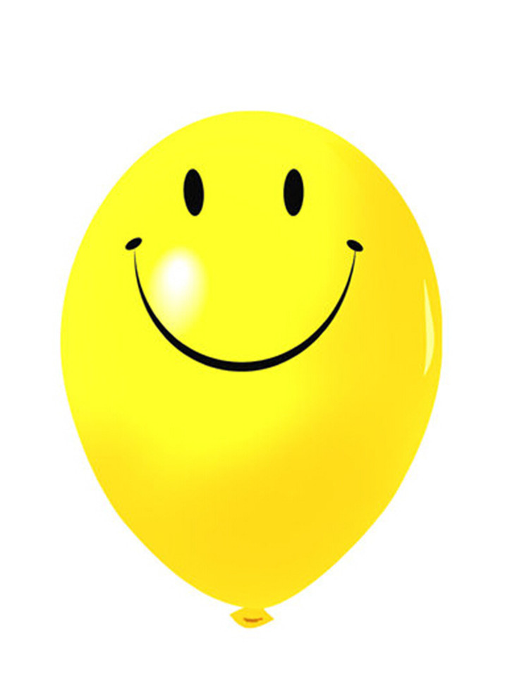 100pcs 10inch Latex Smile Balloons Birthday party kids toy wedding decoration yellow baloon(China (Mainland))