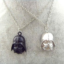 Buy 2017 Fashion Star Wars Darth Vader Helmet Pendants & Necklaces Movie Jewelry Black/Sliver Warrior Star Wars Long Chain Necklace for $1.69 in AliExpress store