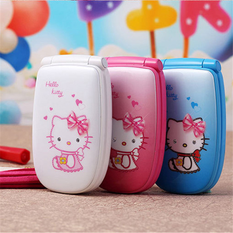 "1.5"" W88 Flip Ukraine French Spanish unlocked small kids girls lady cute hello kitty cartoon mini cell mobile phone cell phones(China (Mainland))"