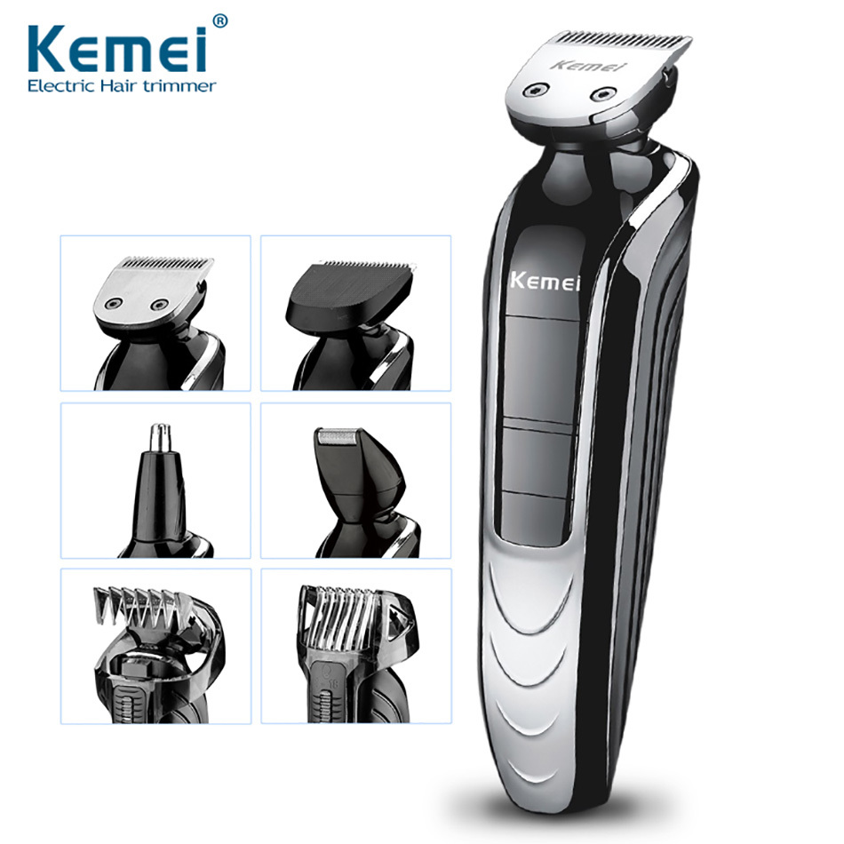 Kemei KM-1832 5 in 1 Waterproof Rechargeable Electric Shaver New Cutter Electric Hair Clipper Nose Hair Trimmer For Men