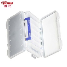 Portable Fire Fox JCB302 Fishing Tackle Boxes Fly Fishing Box Material PP Double open 14 Cells(China (Mainland))