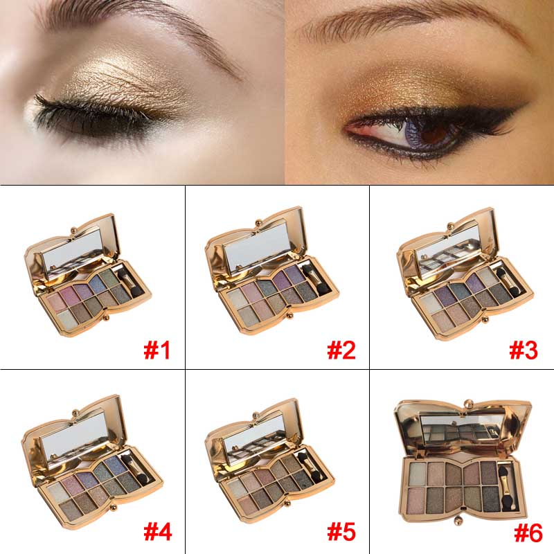 10 Colors Pro Diamond Shining Gold Eye Shadow Powder Makeup Mineral Eyeshadow Cosmetic Beauty Foundation Blusher FM88(China (Mainland))