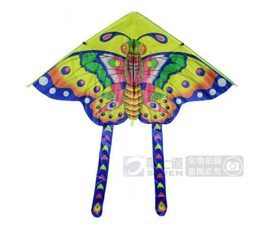 Free shipping is 0.9 meters small butterfly kite kite children printing light cloth Cartoon butterfly kites15070407(China (Mainland))