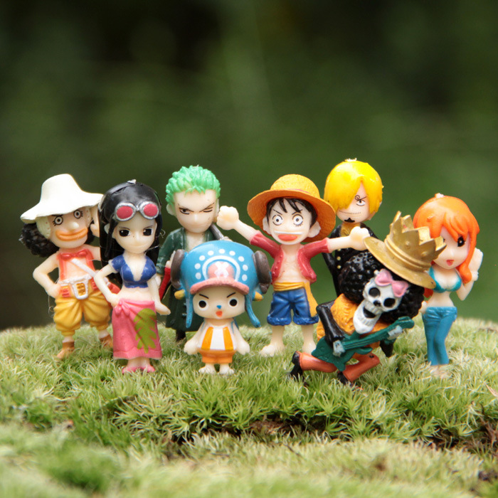 8 PCS PVC One piece hat luffy Joe's bar toys the best New Year gift, children toy gifts The latest anime characters,(China (Mainland))
