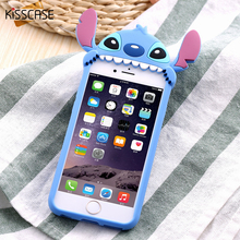 Buy KISSCASE Cute 3D Cartoon Phone Cases Apple iPhone 6 6s 3D Stitch Case Soft Silicon Cover iphone 6 6s 7 Plus Coque for $3.59 in AliExpress store