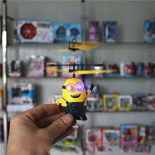 2016 New RC Helicopter Despicable Me Sensor Flying Minion Shatter Resistant Remote Control Aircraft 2 Ch RC Helicoptero Kids Toy(China (Mainland))