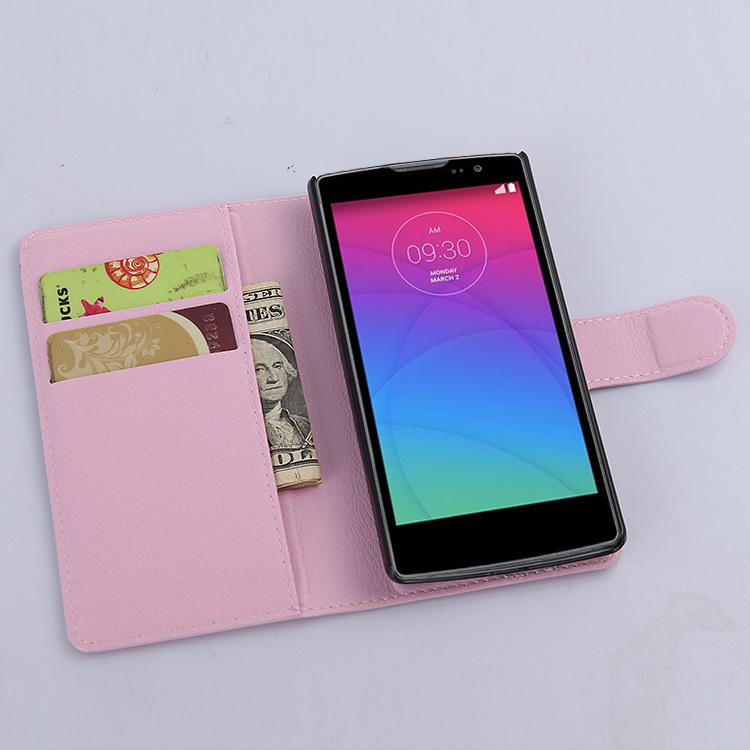 case LG Spirit 4G LTE H440N / 3G H420 C70 litchi texture flip pu leather cover wallet style stand function - Shen Zhen Longhua Electronic Co., Ltd store