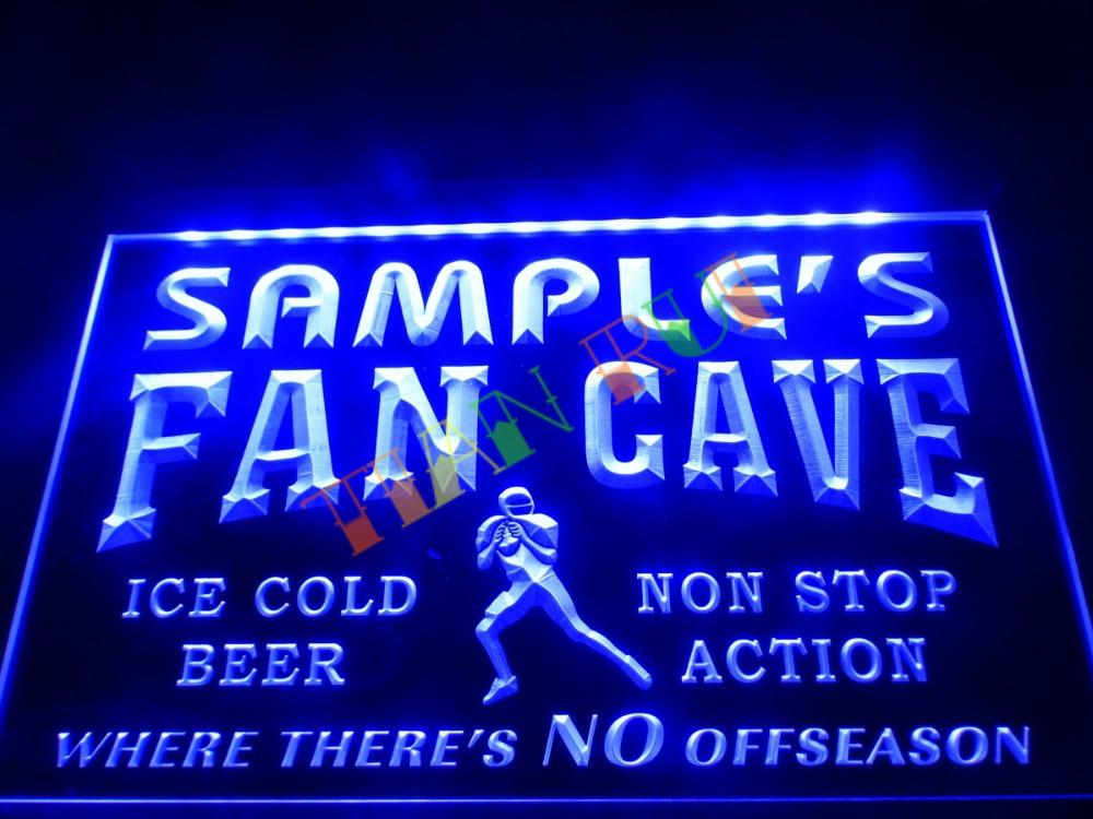 DZ065- Name Personalized Custom Football Fan Cave Bar Beer Neon Sign hang sign home decor shop crafts(China (Mainland))
