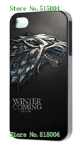 2014 Hot cases!   game of thrones black case for iphone4 4S 1pcs/lots +free shipping