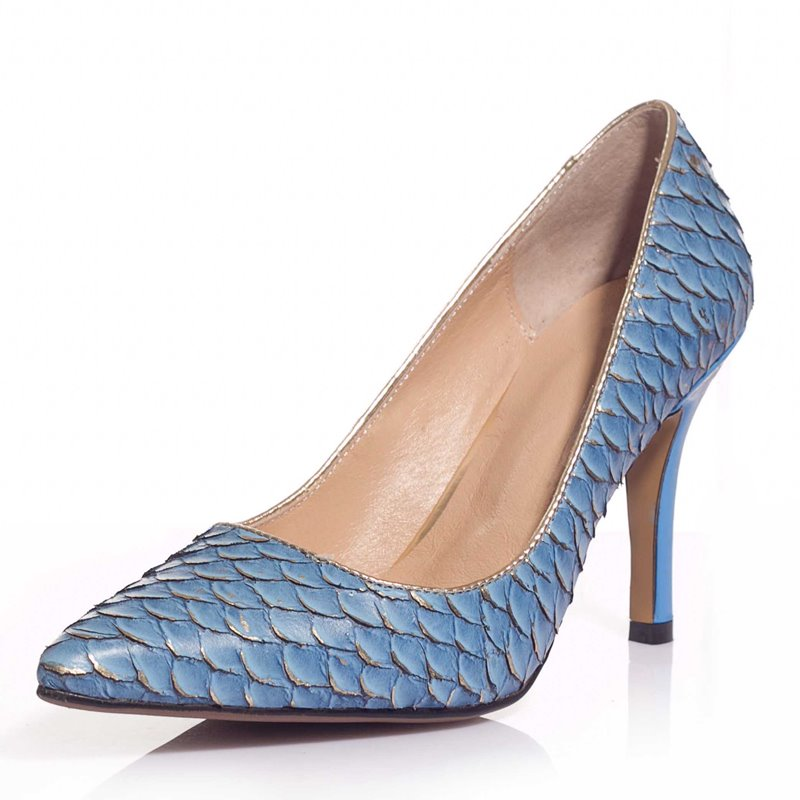 Thick heel pointed toe platform snake skin fashion brand genuine leather women pumps spring ladies shoes