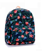 Casual Waterproof Camping Daypacks  Backpack Canvas School Bags High Quantity Satin Passionate Jungle(China (Mainland))