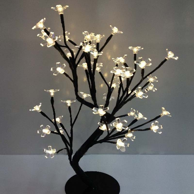 Luminarias New LED crystal cherry blossom tree Light Night lights table lamp Christmas wedding decoration room indoor lighting(China (Mainland))