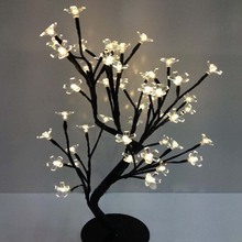 LED crystal cherry blossom tree lamp