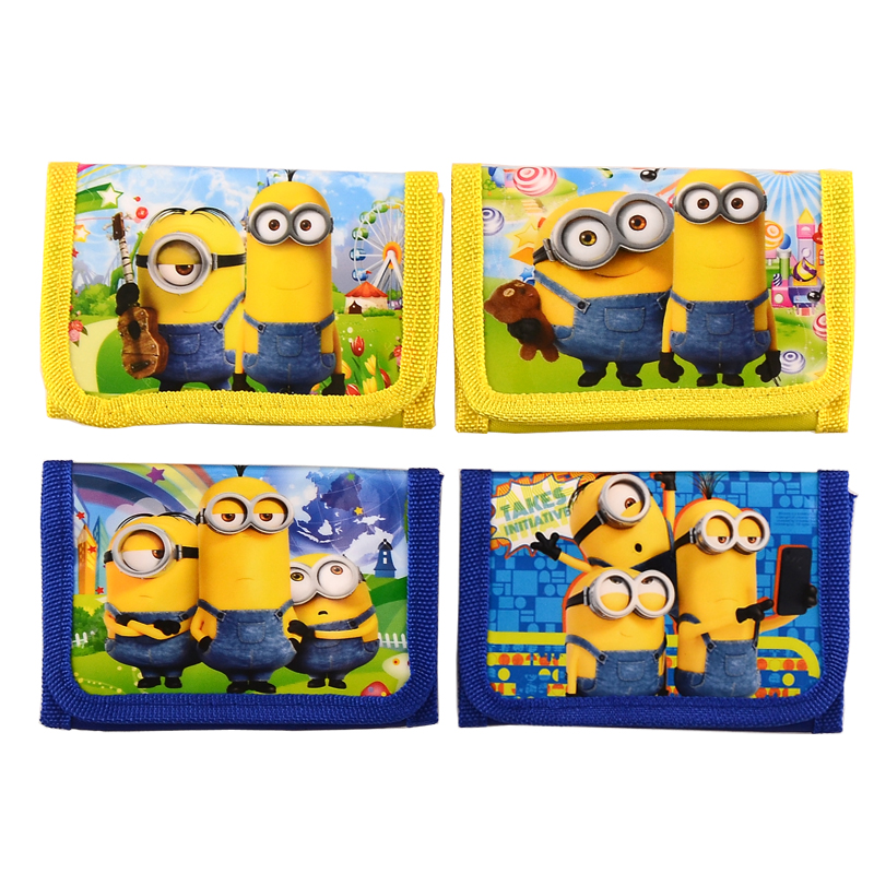 Best price! 1pic minion kids wallet coin purse cartoon cute coin purse for girls& boys Christmas Gift high quality(China (Mainland))