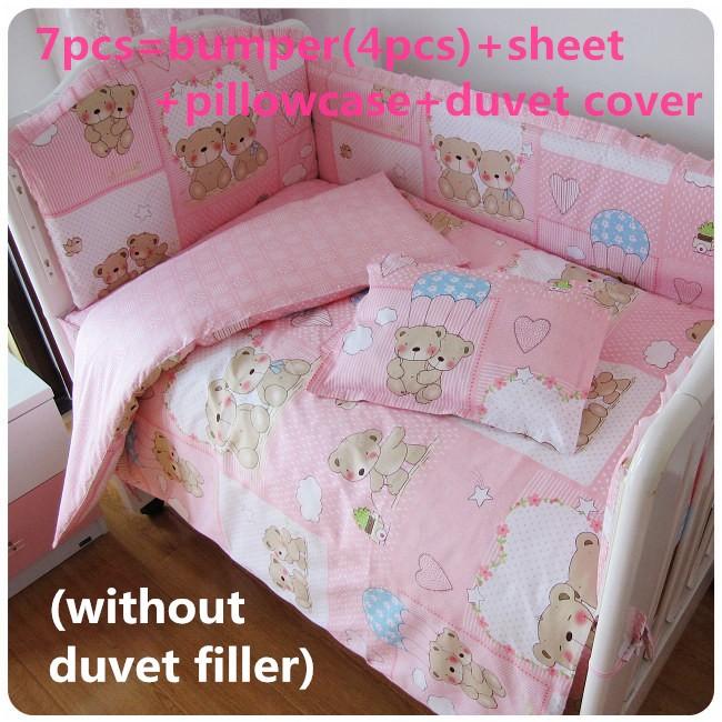Discount! 6/7pcs Crib Cot Set Quilt Cover Bumpers Newborn Baby Bedding Set Bumpers ,120*60/120*70cm<br><br>Aliexpress