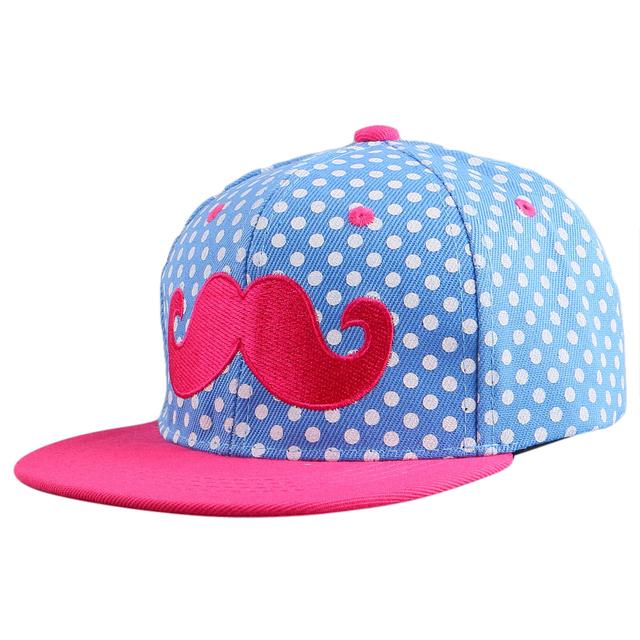 Дети мальчик девочка красоты усы стиль хип-хоп snapback cap шляпы оптовая хорошее ...