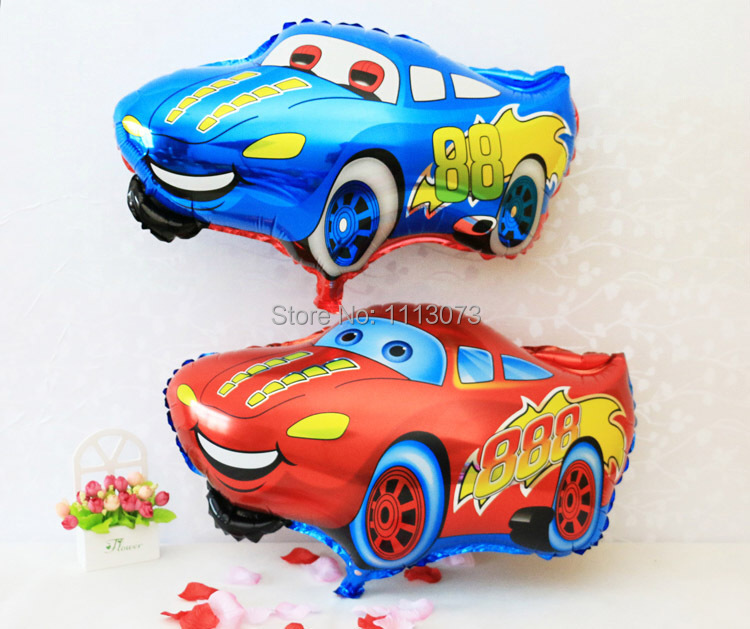 New Cartoon Blue Red Cars Birthday Decoration inflavel Foil Balloons Wedding Party Supplier Inflatable Balloons Classic Toys(China (Mainland))