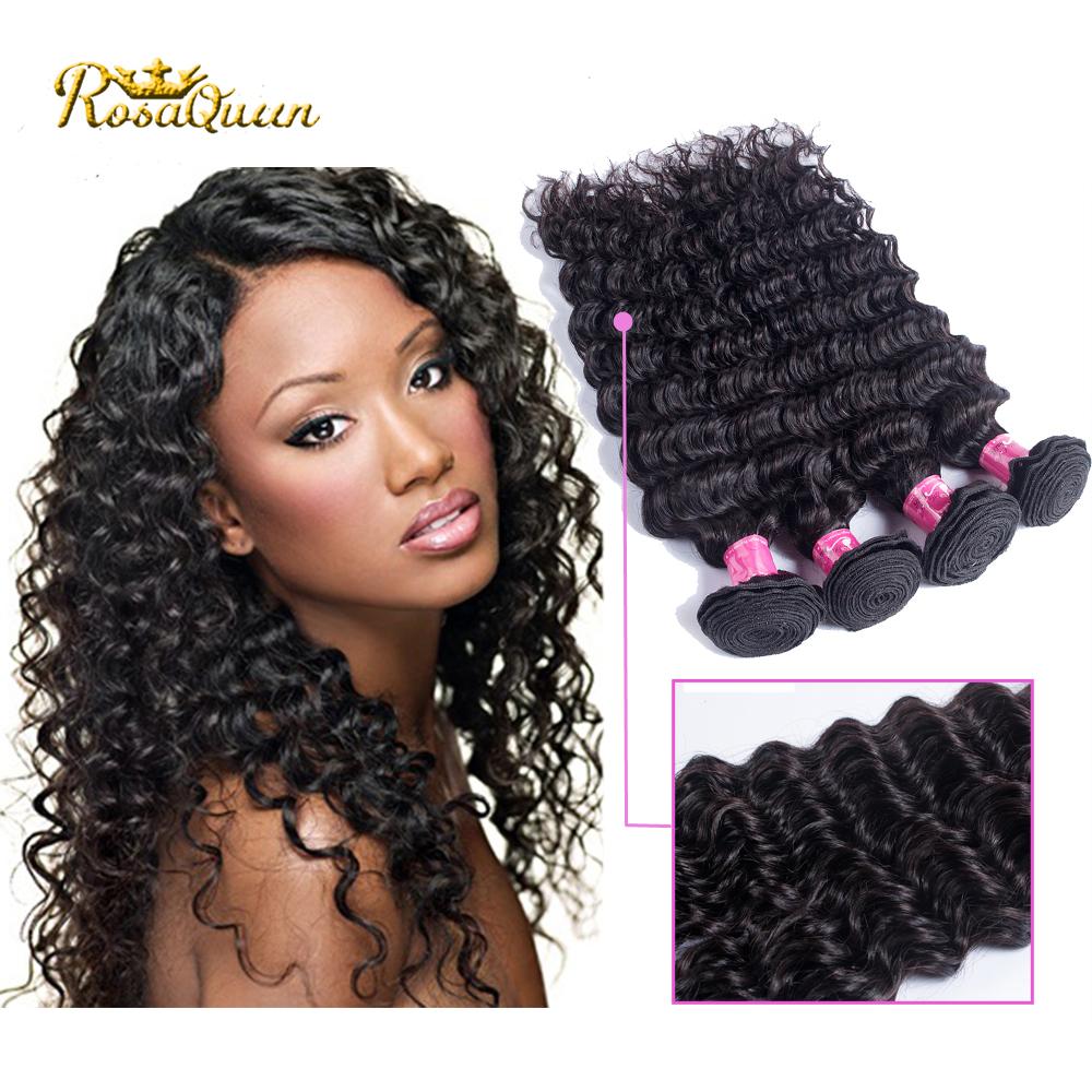 8a ali queen hair Brazilian Deep Wave Curly Virgin Hair 4pcs Lot Mink Brazilian Virgin Hair Kinky Curly 100 Human Hair Weave Hot