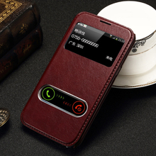 For Samsung Galaxy Note II 2 N7100 Case Luxury PU Leather Window Stand Design Flip Cover Phone Case Brand New Hot Style(China (Mainland))