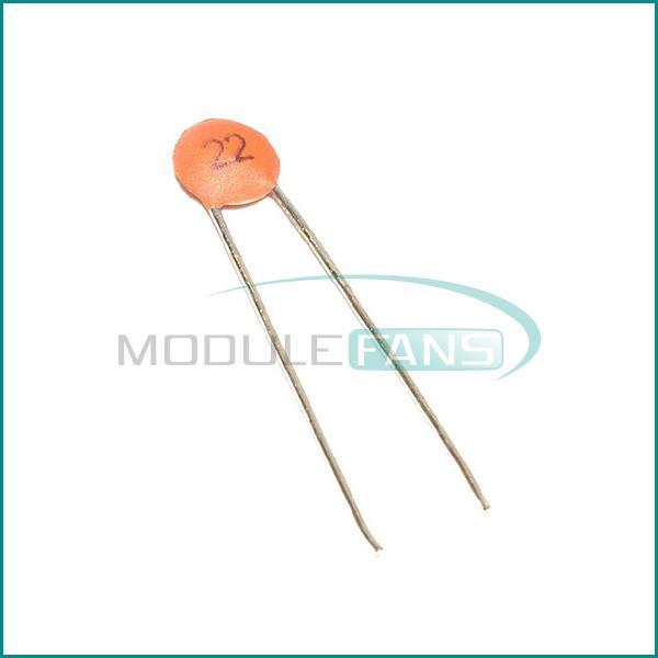 Гаджет  50PCS 22pF 50V DIP Ceramic Disc Capacitors None Электронные компоненты и материалы