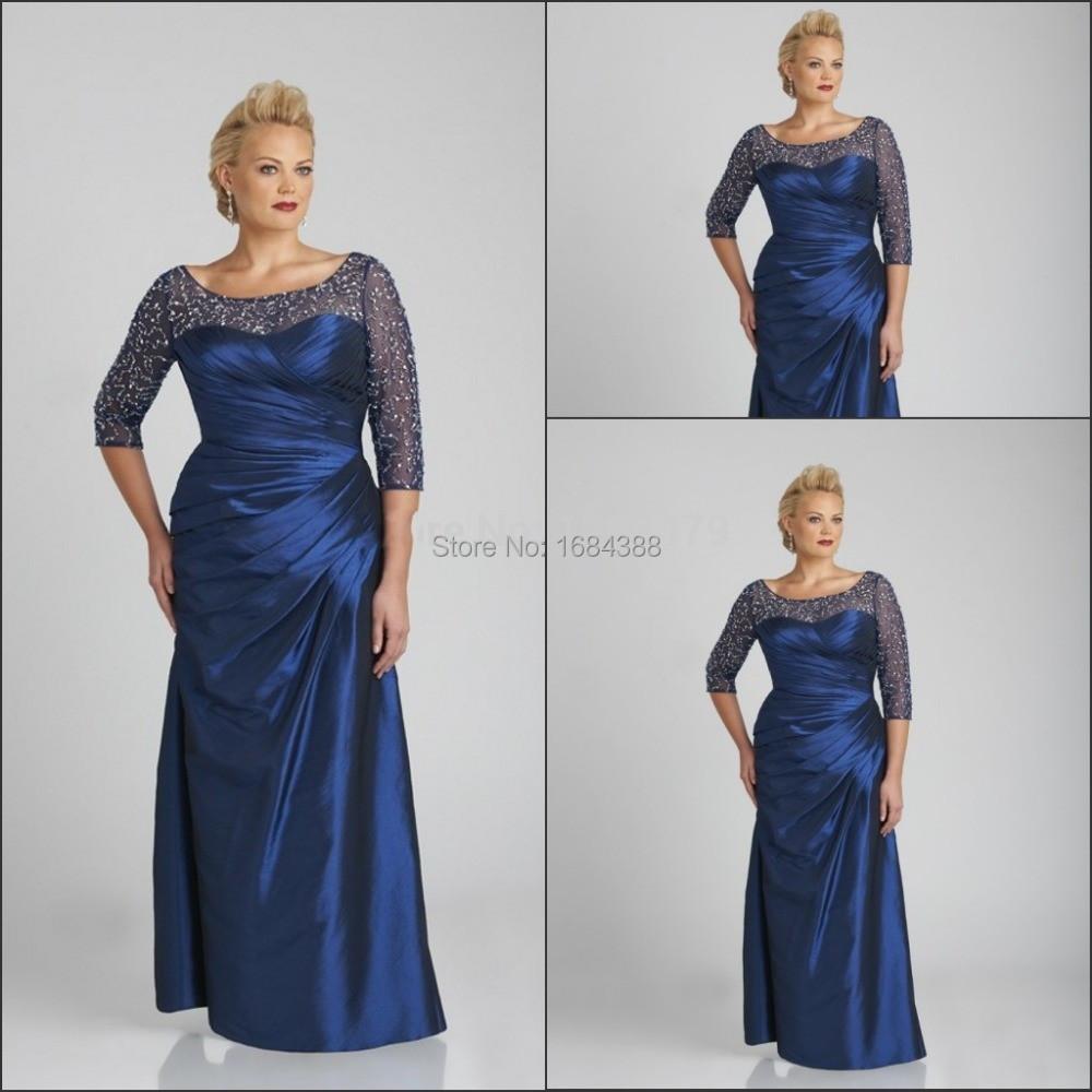 three quarter sleeve formal dresses