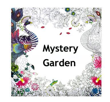 Mystery Garden 24 Pages English Edition Coloring Book For Children Adult Relieve Stress Kill Time Graffiti Painting Drawing Book(China (Mainland))