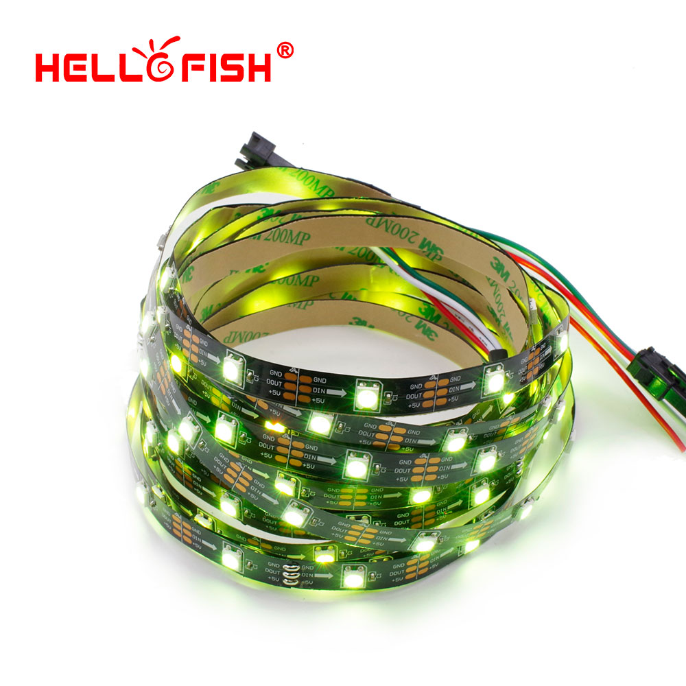 HELLO FISH,1M Built-in WS2812 LED strip 30 LED 30 pixels Pixel matrix Arduino Display DIY led strip(China (Mainland))