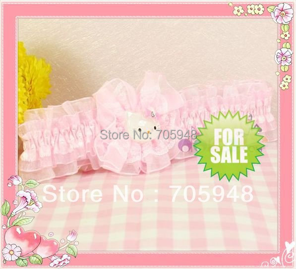 2pcs girl Hello kitty hair grip clip band bow headbands hairband wholesalers buy free shipping(China (Mainland))