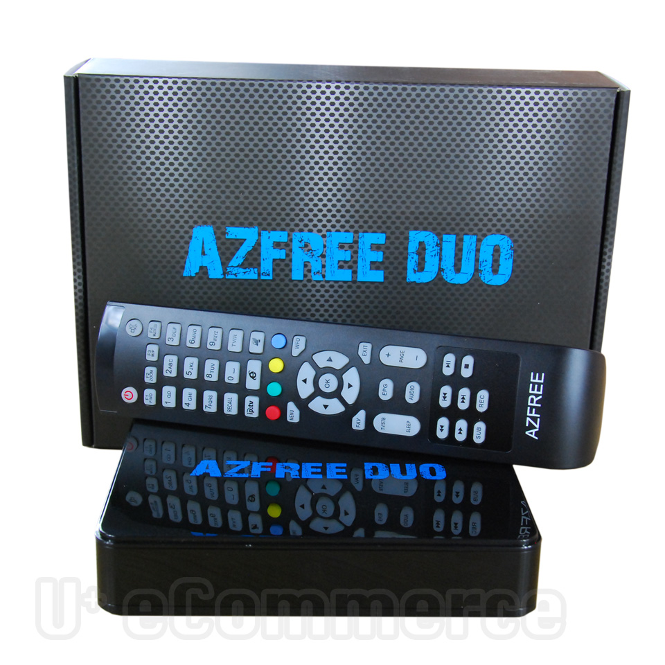 1PC AZFREE DUO Full HD Digital Satellite Combo Receiver DVB S/S2 MPEG 2/4 H.264 IKS + SKS Chile Argentine South America IPTV(China (Mainland))