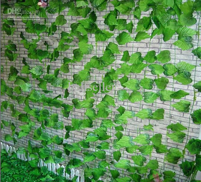 Large grape vine leaves artificial silk flower vine rattan for Artificial leaves for decoration