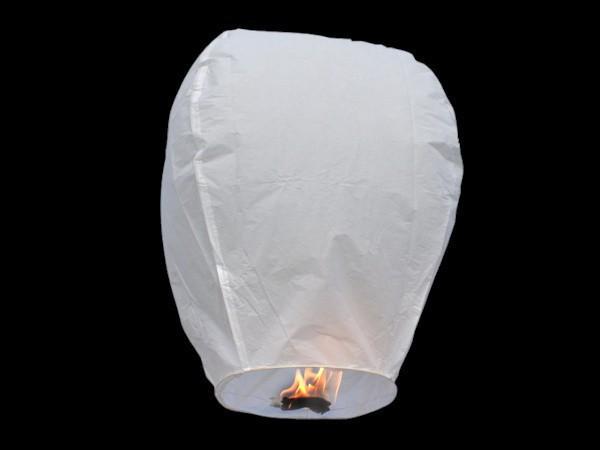 White Paper Chinese Sky Lanterns Wishing Lamp Balloon for Birthday Wedding Party DHL free shiping 100 pcs/lot(China (Mainland))