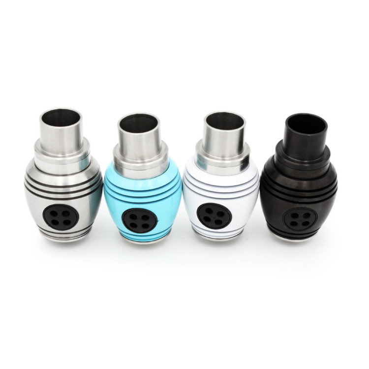 Huge Vapor Nuke RDA Atomizers Adjustable Airflow with Turbine Round Body 4 Colors fit 510 E Cigarette Mods<br>