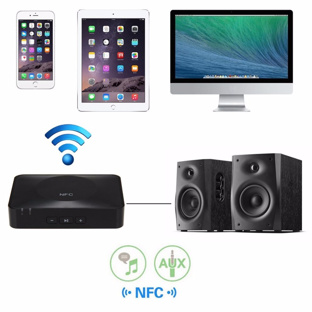 NFC Bluetooth Audio Receiver for Sound System Receptor Bluetooth Receiver Audio Speaker NFC-Enabled Bluetooth Music Receiver