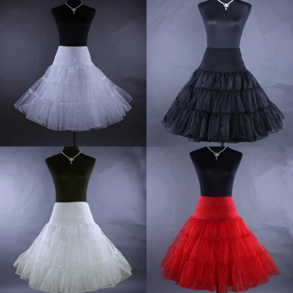 Cheap 2016 Hot sale A-Line Wedding Petticoats Short Free Size Bridal Slip Underskirt Crinoline White For Wedding Dresses