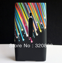 Meteor Rainbow Star Design Hard Plastic SKIN CASE COVER For NOKIA LUMIA 800 N800(China (Mainland))