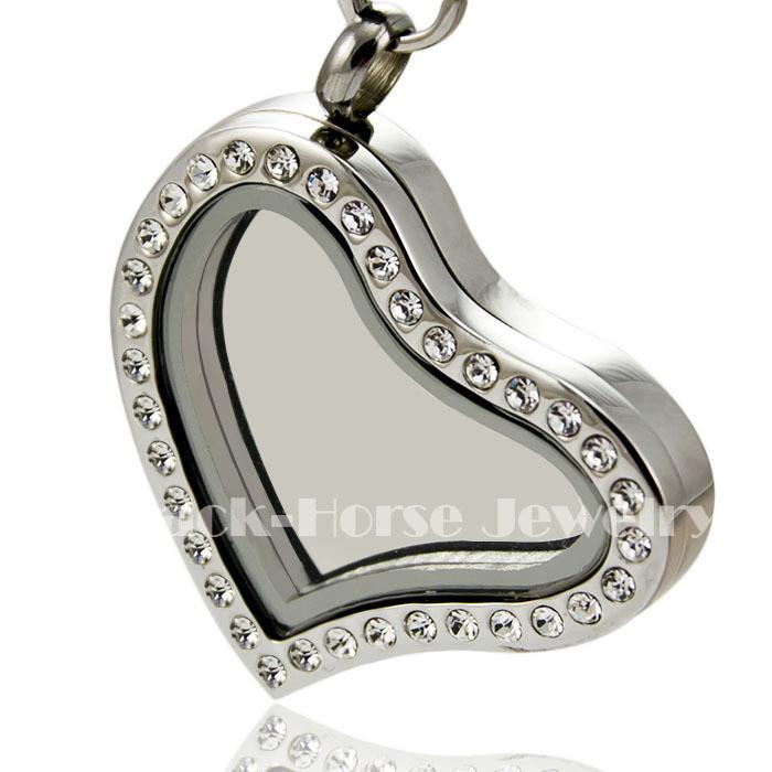 Здесь продается  Free shipping high quality Crystal 316L Stainless Steel Hinge opened heart Floating Charm Living Locket  Ювелирные изделия и часы