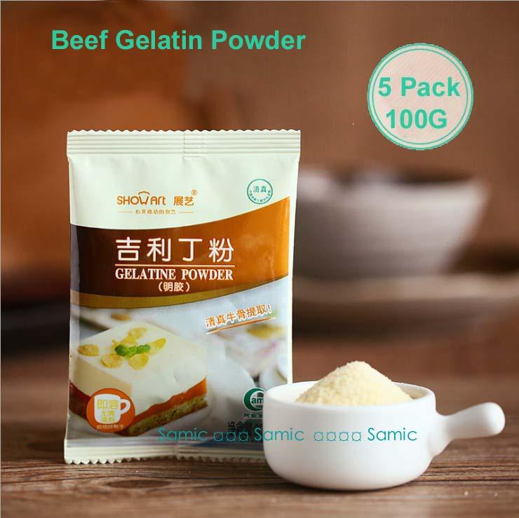 100g NEW FOODS BEEF GELATIN POWDER 20g*5 Packs For Gummy Candy,Marshmallow,Cake,Pudding Edible Kosher(China (Mainland))
