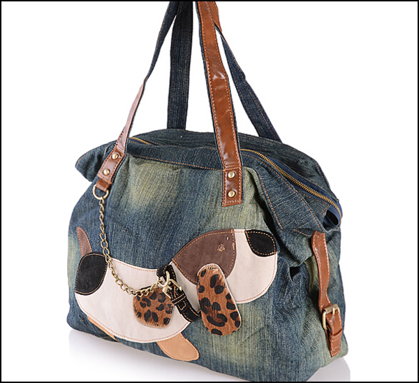 5pcs lot Popular Large Casual Fashion Women Bag Denim Tote Bag Jean Shoulder Bags Girls Handbags