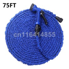 75FT Blue Garden Hoses Magic hose 3X Plastic Connector tuyau arrosage Watering Hose+7 set Spray Gun manguera extensible(China (Mainland))
