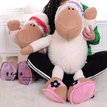 New Hot Big Size 80cm Germany Nici Jolly Mah Turban Sheep Plush Toy 1pcs Children Birthday Christmas Lovers Gifts Free Shipping