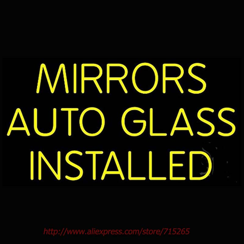 Mirrors Auto Glass Installed Neon Sign Neon Bulbs Led Signs Real Glass Tube Recreation Room Restaurant Store Display 30x18(China (Mainland))