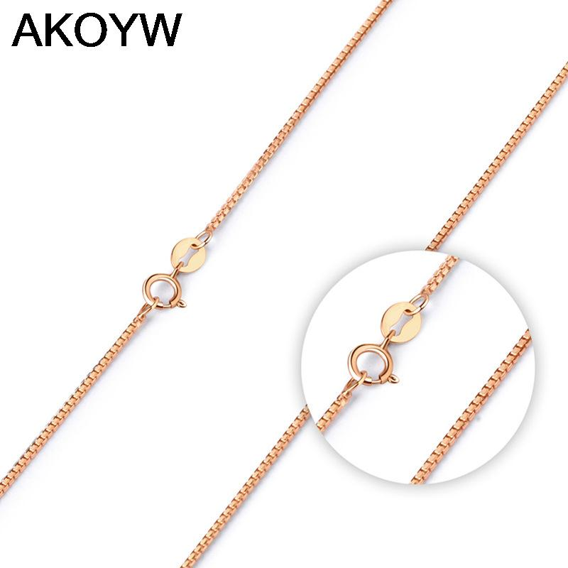 Silver plated rose gold necklace wild men's fashion jewelry lovely ladies 45CM high quality jewelry manufacturers, wholesale(China (Mainland))