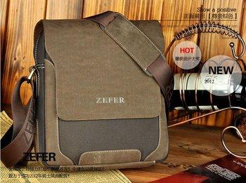 Горячая распродажа мода высокое качество холста человека сумки, бренд дизайн брезентовый мешок отдыха для мужчин, старинный кожаный бизнес сумка