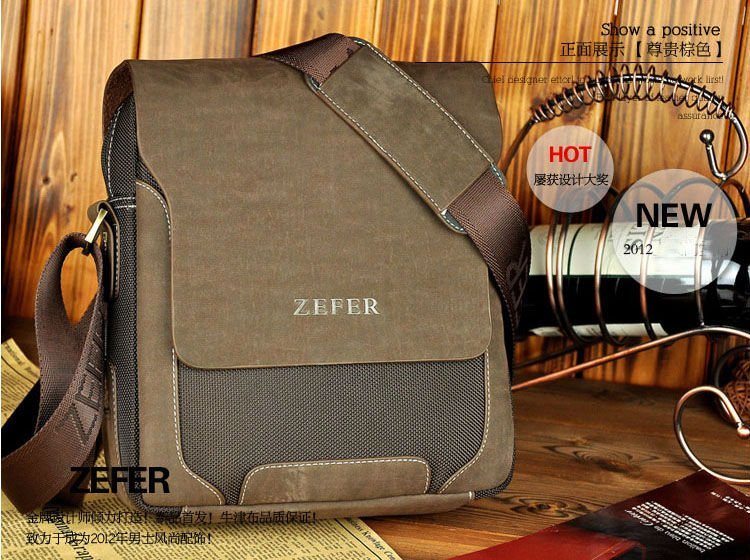Hot Sale fashion high quality canvas man's bags, brand design leisure canvas bag for men,vintage leather business messenger bag(China (Mainland))