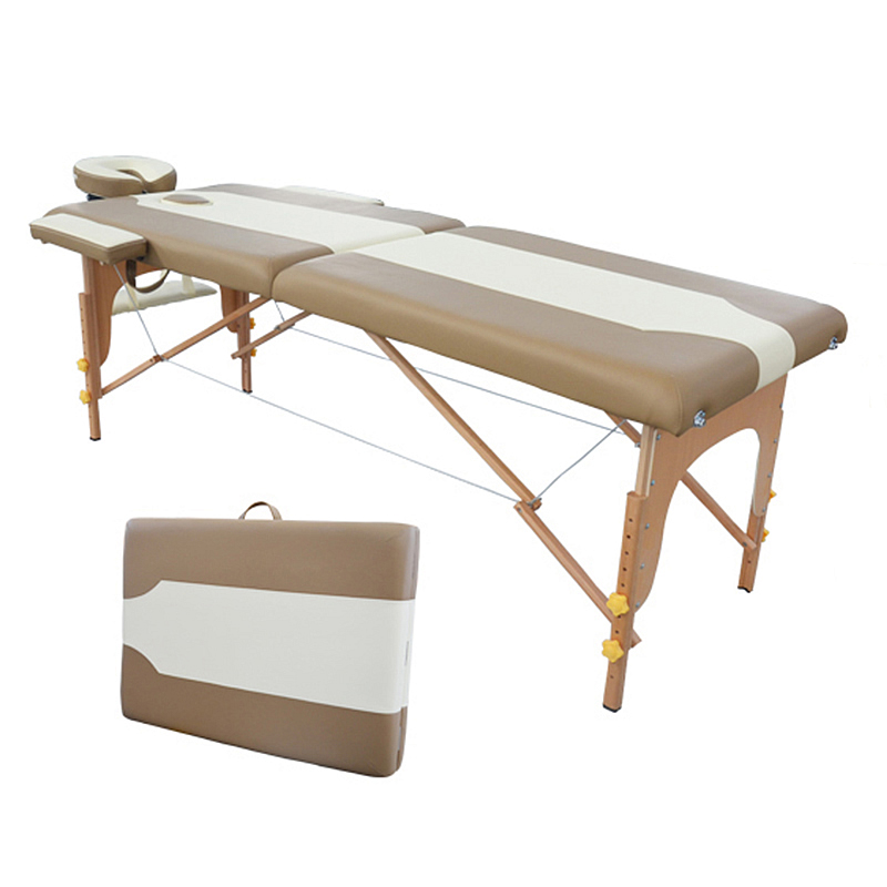 2015 New Design High Quality Cheap Two Section Wooden Massage Table Bed Beauty Tattoo Bed Massage Tables Free Shipping(China (Mainland))