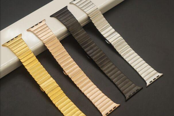 Luxury metal strap Link Bracelet Band Strap 42mm Apple Watch Butterfly Closure 316L Stainless Steel - EPARK668 store