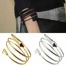Punk Fashion Coiled Snake Spiral Upper Arm Cuff Armlet Armband Bangle Bracelet Jewelry Present 6L3E